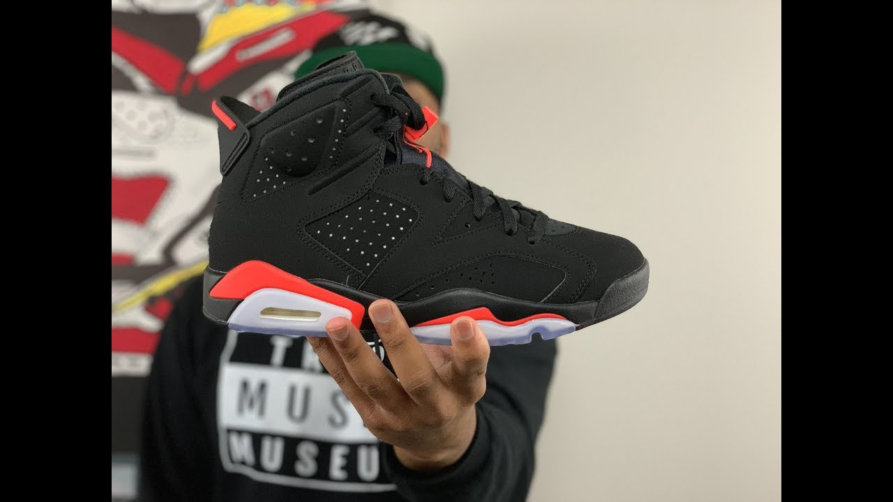 02ce19aa0e7 UNBOXING The 2019 Air Jordan 6 Black Infrared!! - YouTube