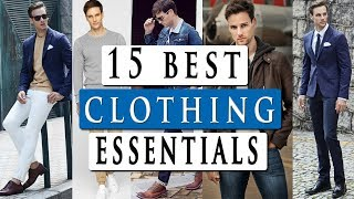 15 basic CLOTHING ESSENTIALS for men | by male model DANIEL MARITZ