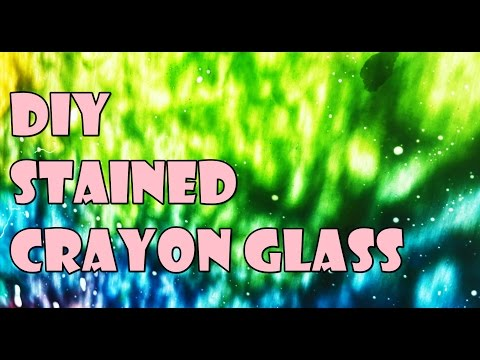 DIY Stained Crayon Glass Art || Mothers Day Gift Ideas || Arts, Crafts, and Timelapse