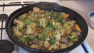 Печень молодой козы, тушёная с овощами в тажине - кухня Магриба.