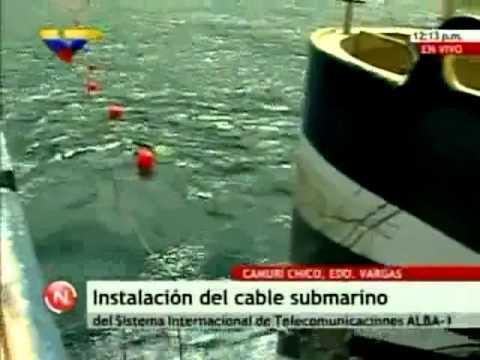 Venezuela: Inician la instalación del cable de fibra óptica a Cuba