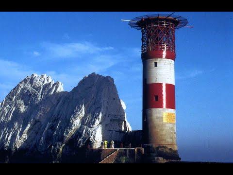 Lighthouses Of England, Needles Lighthouse At Christmas.