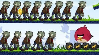 Angry Birds Fry Zombies - BURNING ALL ZOMBIES WITH TNT!