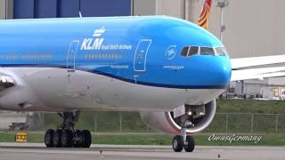 1st KLM Boeing 777-300ER PH-BVN Delivery Flight in New Paint @ KPAE Paine Field