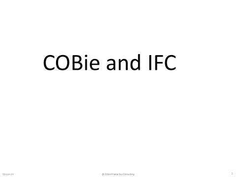 COBie and IFC