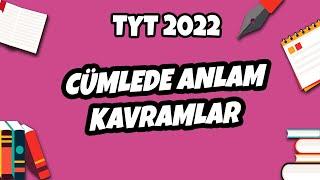 Cümlede Anlam - Kavramlar  TYT Türkçe 2021 hedefekoş