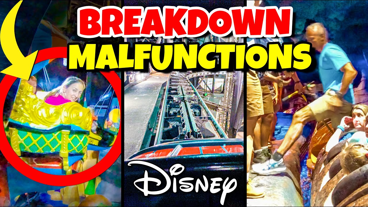 Top 10 Disney Fails, Ride Breakdowns & Malfunctions Pt 5 Walt Disney World & Disneyland