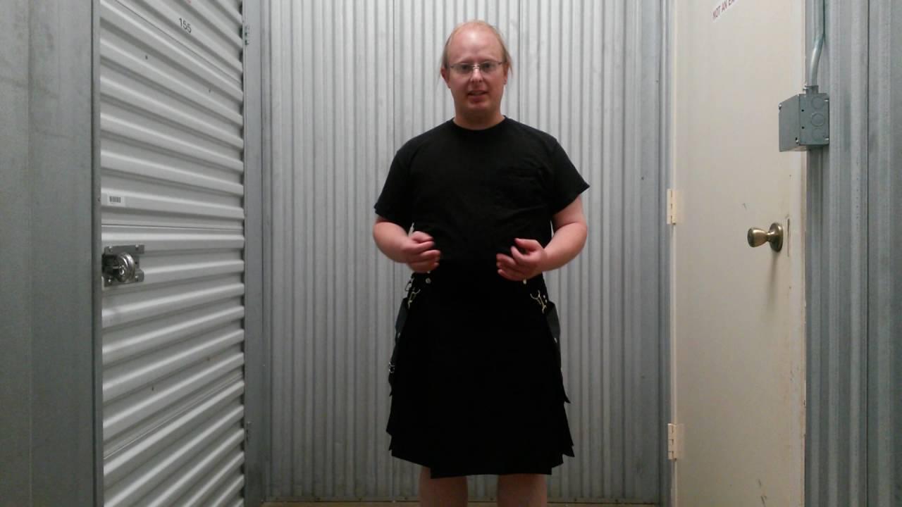 Black dress kilt exposures