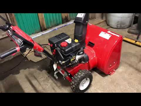 How to start a MTD yard machine snow thrower