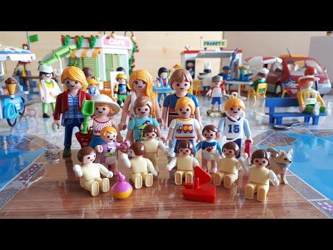 PLAYMOBIL FAMILLE NOMBREUSE : UNE JOURNE  LA MER
