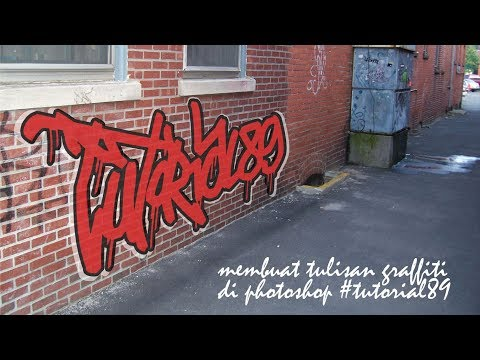 Cara Membuat Tulisan Graffiti | Tutorial Photoshop #tutorial89