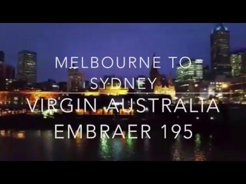 VIRGIN AUSTRALIA MELBOURNE TO SYDNEY EMBRAER 195 ECONOMY - MJT GLOBAL