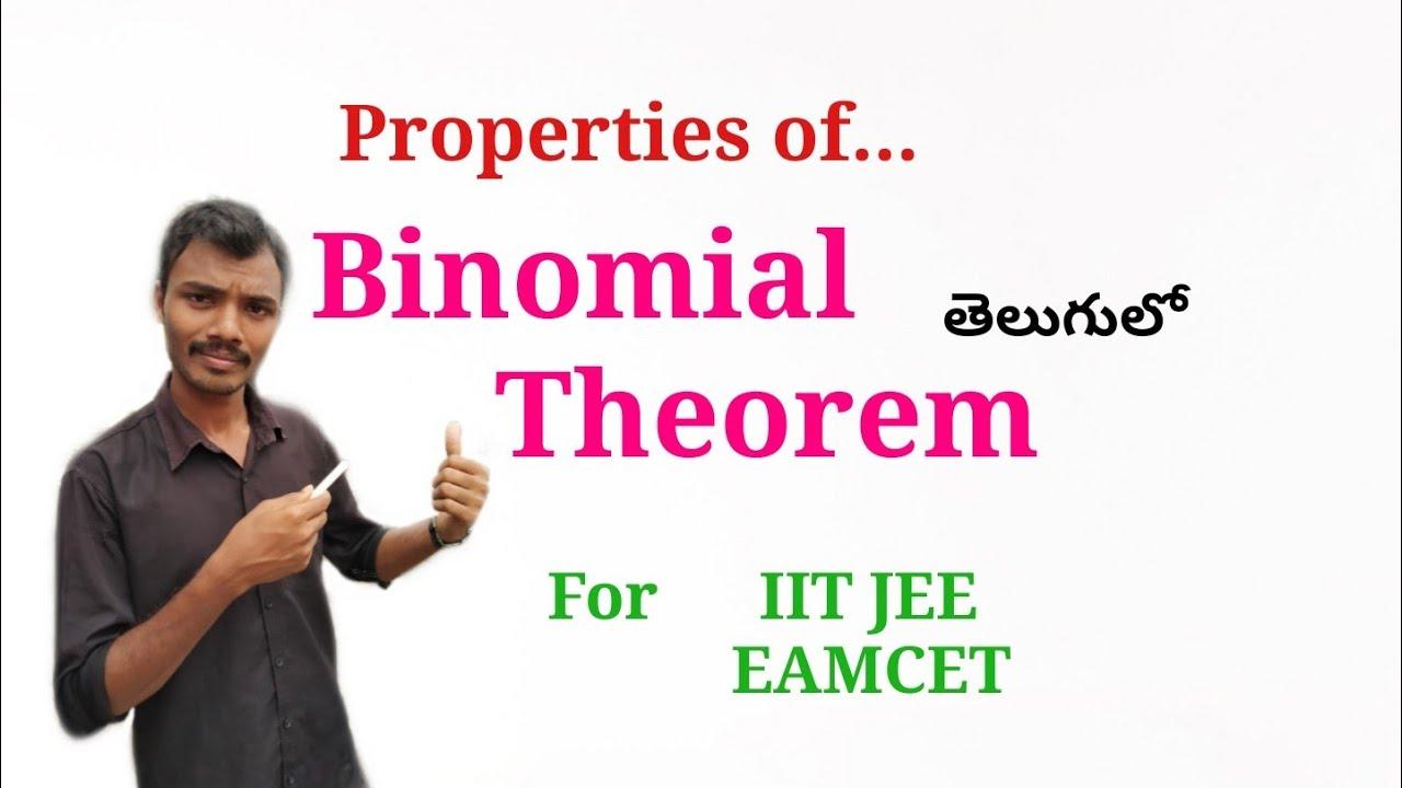 Binomial Theorem in Telugu 2 || Properties || Root Maths 153