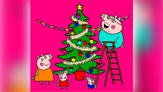 Peppa Pig Coloring Pages for Kids ► Peppa Pig Coloring Games ► Peppa Christmas Tree Coloring Book