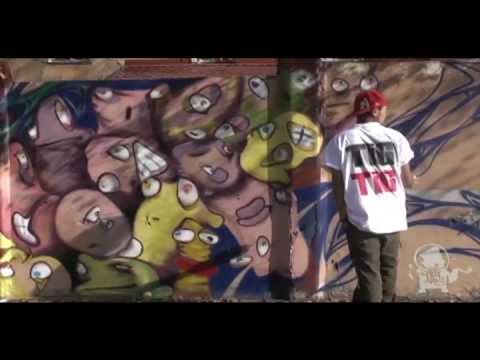 Kazakhstan.Graffiti by Tigrohaud crew in Almaty