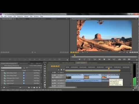 Adobe Premiere Pro CS6 Tutorial | Changing Clip Speed | Infiniteskills