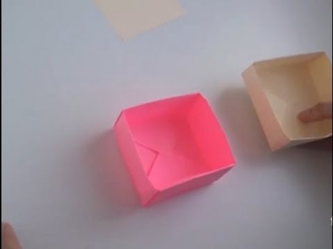 C mo hacer una caja con tapa de papel - Como forrar una caja con tela ...