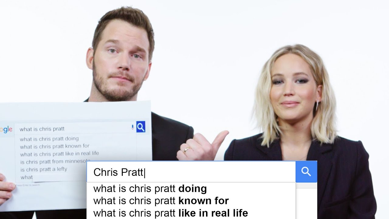 Jennifer Lawrence & Chris Pratt Answer the Web\'s Most Searched ...