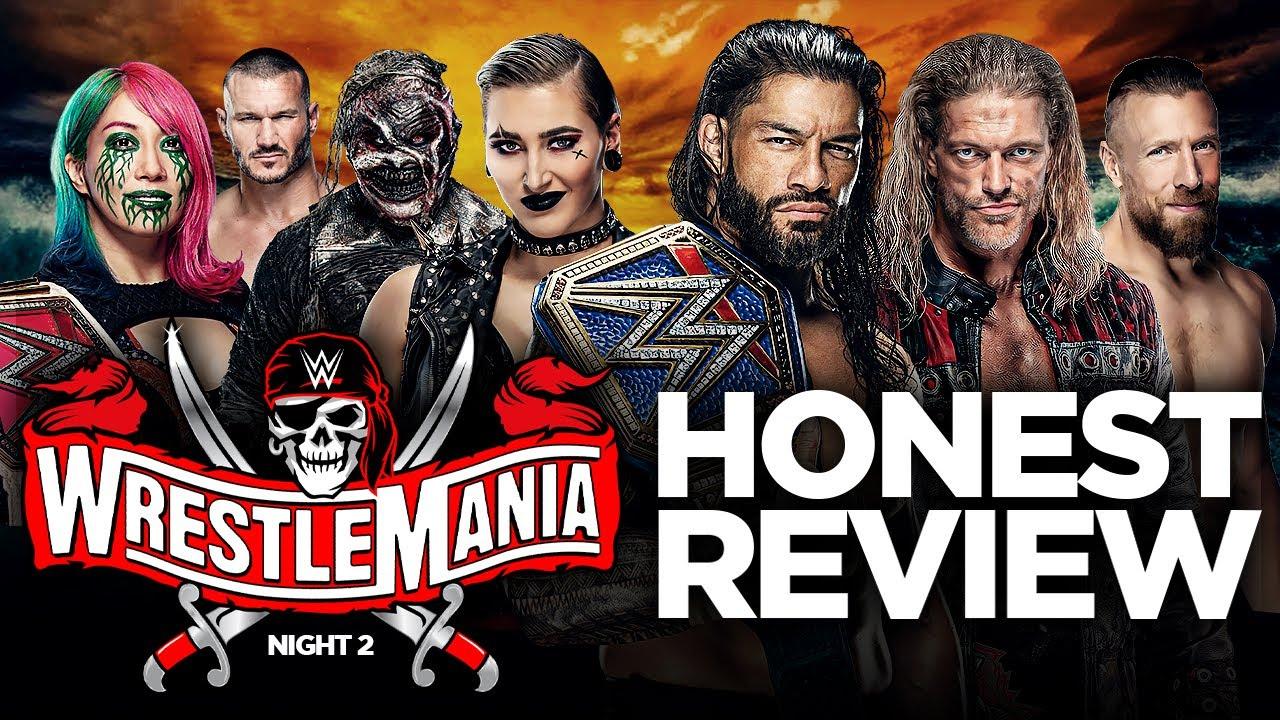 Download 🔴 WWE Wrestlemania 37 Night 2 Review: ROMAN REIGNS VS EDGE VS DANIEL BRYAN TRIPLE THREAT!
