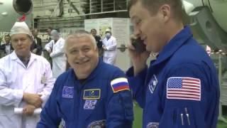 Первая тренировка экипажа ТПК  Союз МС 04