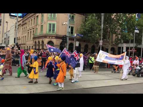 Sikh parade in Melbourne on Australian Day 2017