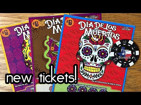 new-tickets!-3x-dia-de-los-muertos-texas-lottery-scratch-off-tickets