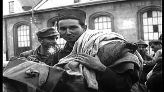 German and Italian National Republic troops begin repatriation at end of World Wa...HD Stock Footage