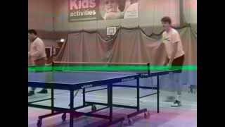 Me playing table tennis