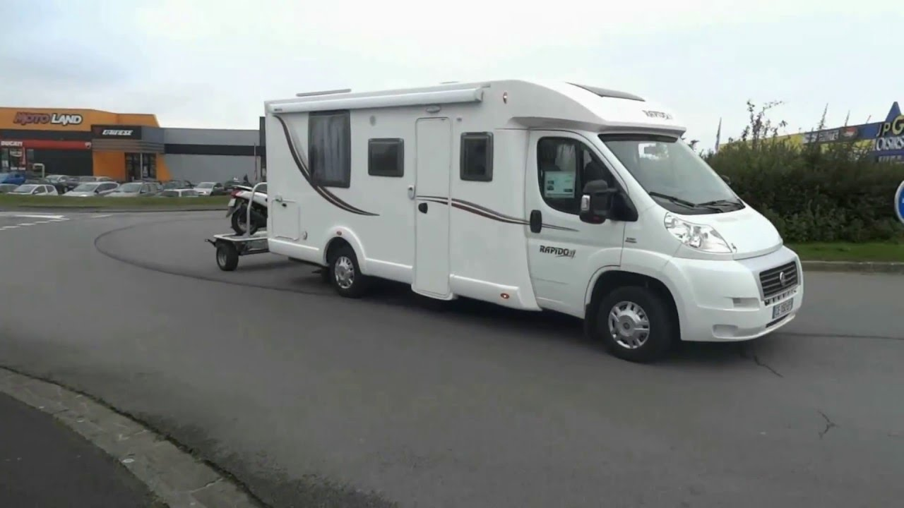 remorque transversale scooter mp3 ideal campingcar youtube. Black Bedroom Furniture Sets. Home Design Ideas