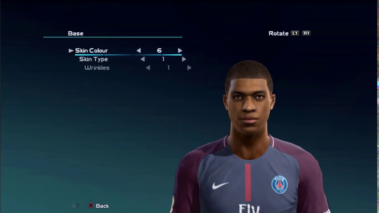 Kylian Mbappe New Face and Hair for PES 2013