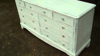 Painted Shabby Chic Sideboard Cupboard Fake Drawers