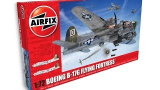 Airfix : Boeing B-17G Flying Fortress : 1/72 Scale Model : In Box Review