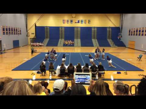 King George High School at the Battle of the Den Cheer Competition 2016