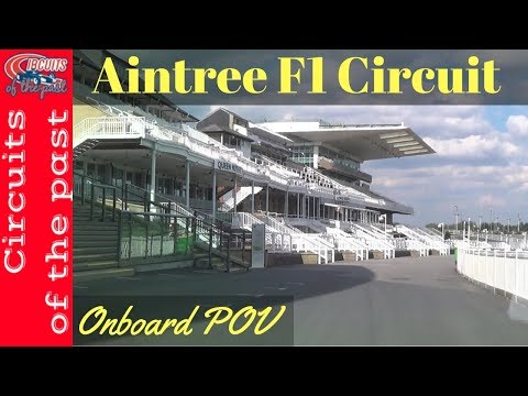Aintree Grand Prix Circuit Full Lap at the old Formula 1 Track Onboard POV