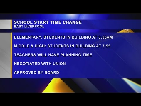 East Palestine City Schools changing start times
