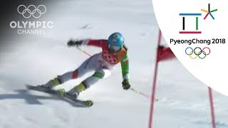 16-year-old Malagasy Clerc competes in the Women's Giant Slalom | Winter Olympics 2018 | PyeongChang