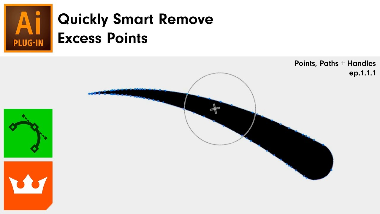 Quickly Smart Remove Excess Points in Illustrator [Smart Remove Brush] |  VectorScribe