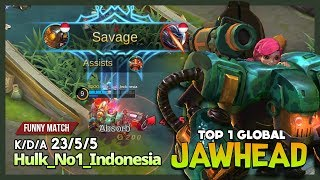 You Know What? I'm Fighter not a Tank! Hulk_No1_Indonesia Top 1 Global Jawhead ~ Mobile Legends