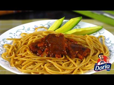 Spaghetti Doria Sabor Ranchero con Costillitas