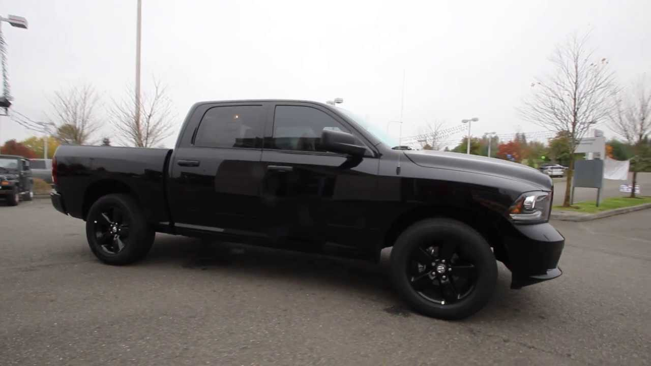 2014 dodge ram 1500 crew cab 4x4 blacked out autos post. Black Bedroom Furniture Sets. Home Design Ideas