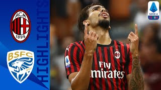 Milan 1-0 Brescia | Calhanoglu Header Seals Milan Win | Serie A
