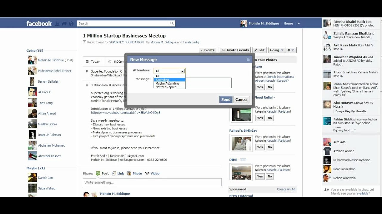 how to create an event on facebook youtube