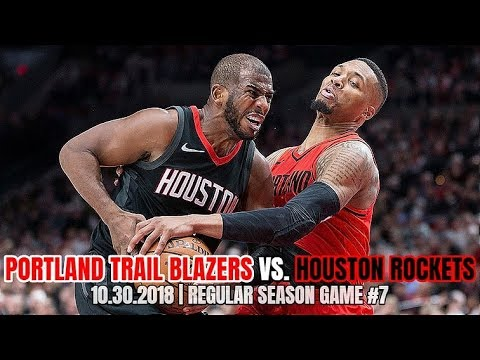 Portland Trail Blazers Vs Houston Rockets - Full Game Highlights - October 30, 2018