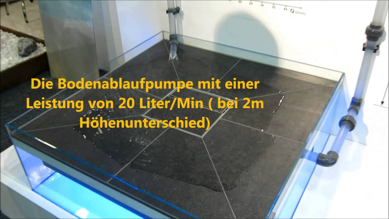 tub pump bodengleiche dusche mit pumpe youtube. Black Bedroom Furniture Sets. Home Design Ideas
