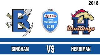 6A Volleyball: Bingham vs Herriman High School UHSAA 2018 Utah State Tournament Round 1