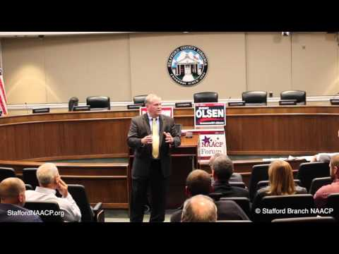 Stafford, Virginia Commonwealth Attorney Candidate Forum (R) Eric L. Olsen (D) Timothy W. Barbrow