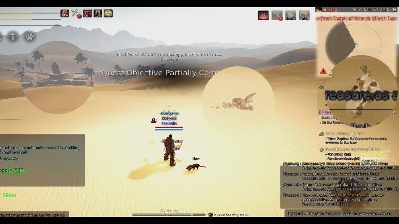 Black Desert Schatzkarte