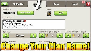 Upcoming New Update? : Change Your Clan Name In Clash Of Clans? | QoL Change In Clash Of Clans