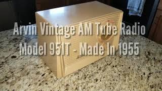Arvin Model 951T Vintage AM Radio