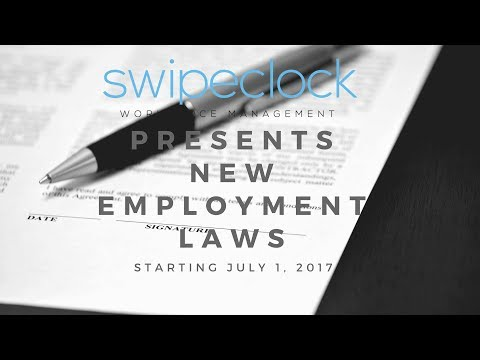Employment & Labor Laws that start on July 1, 2017